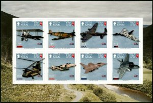 HERRICKSTAMP NEW ISSUES ISLE OF MAN Sc.# 1920 Royal Air Force S/A Sheetlet