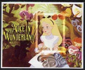 Liberia 2006 Walt Disney - Alice in Wonderland imperf m/s...