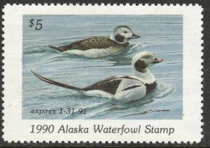 U.S.-ALASKA 6, STATE DUCK HUNTING PERMIT STAMP. MINT, NH. VF