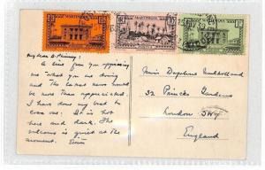 AT86 1939 Martinique London GB Postcard {samwells-covers}PTS