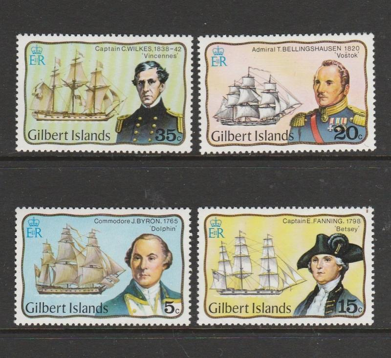 Gilbert islands 1977 Explorers (Ships) UM/MNH SG51/4