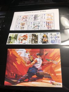Macao 1997 Complete Stamps & Souv. Sheets 2015 Scott #853-906 VF-NH Cat. $86.35