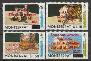 Montserrat SG 945 - 948 set of 4  MH - Space - Surch & Op...