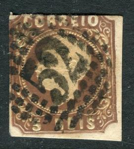PORTUGAL;  1862 early classic Luis Imperf issue used 5r. value Postmark