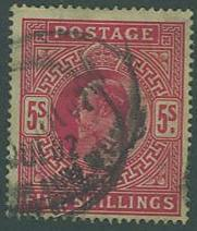 Great Britain SC# 140 King Edward, 5sh, used