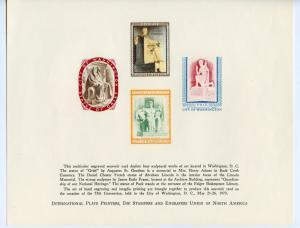 US BUREAU OF PRINTING & ENGRAVING PLATE PRINTERS, DIE STAMPERS &  ENGRAVERS CARD