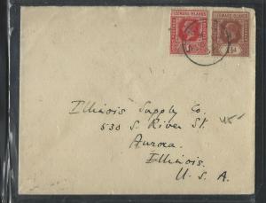 LEEWARD ISLANDS  (P1104B) 1935  KGV 1D+1 1/2D ST KITTS TO USA