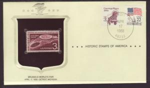 US Brussels World's Fair Historic Stamp Cover BIN