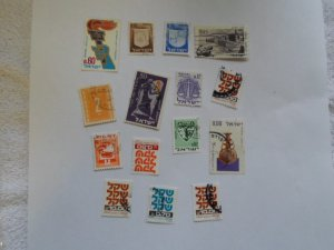 ISRAEL STAMPS MIXED CONDITION. LOT OF 15 stamps ( 1 )