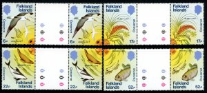 Falkland Islands 412-13 MNH Gutter Pairs Conservation      (Stock 20200130.003)