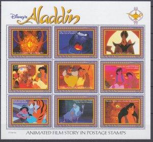 1993 Guyana 4482-4490KL Disney - Aladdin 10,00 €