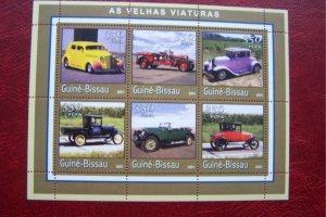 Guinea Bissau 2001 MNH Old Cars Wintage Cars