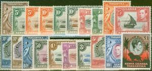 KUT 1938-54 set of 20 SG131-150b Fine & Fresh Mtd Mint