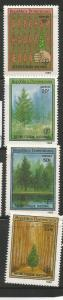 DOMINICAN REPUBLIC 1071-1074, MNH, C/SET OF 4 STAMPS, NATIONAL AFFORESTATION