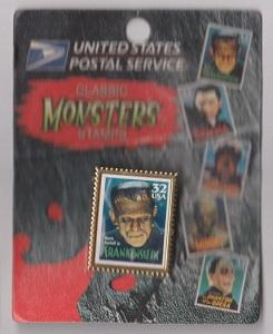 USPS Stamp Pin:  Scott #3170 Frankenstein from the Movie Monsters Series