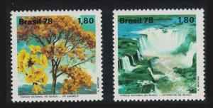 Brazil Environment Protection Iguacu Falls National Park 2v SG#1727-1728