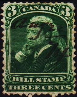 Canada. Date? 3c(Bill Stamp) Fine Used