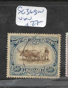 MALAYA KEDAH (P1006B)  COW  50C   SG 36BW   VFU