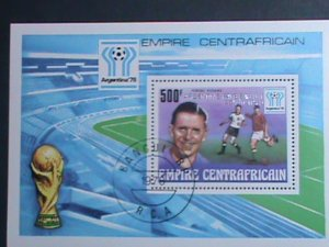CENTRAL AFRICA-1978-WORLD CUP SOCCER-ARGENTINA'78 -CTO S/S VERY FINE
