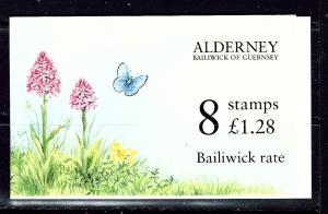 Guernsey-Alderney 80b 1994 Booklet of 8 Flowers