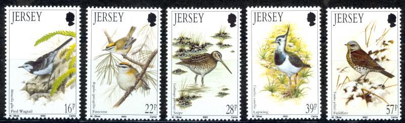 Jersey MNH 582-6 Winter Birds 1992