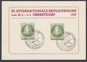 GERMANY 1952 Postcard : Ski-ing cancel - nice franking......................B332