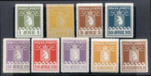 Greenland Q1-Q9 Mint LH parcel post, bears