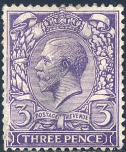 Great Britain 1924 Sc 192 King George V 3 Pence Stamp Used