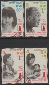 Hong Kong 1988 Support the Community Chest Stamps Set of 4 Fine Used