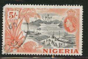 Nigeria Scott 89 used 1953 5 sh palm oil stamp