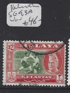 MALAYA KELANTAN   (PP2612B)  SULTAN  $2.00 SG 93A   VFU