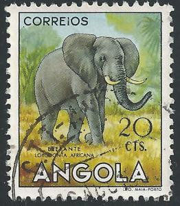 Angola #364 20c Animals - Elephant