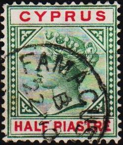 Cyprus. 1881 1/2pi S.G.40 Fine Used