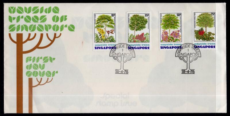 Singapore 243-246 Trees U/A FDC