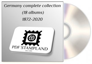 Germany complete collection (18 albums on CD) 1872-2020 PDF STAMP ALBUM PAGES