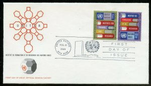 UNITED NATIONS UNITAR SET SINGLES IMPRINT BLOCKS GENEVA CACHET FIRST DAY COVERS