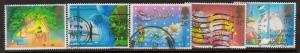 Great Britain Sc 1196-0 1987 Christmas stamps used