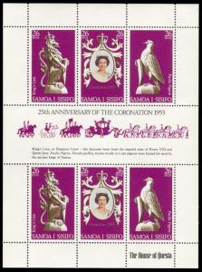 Samoa 472, MNH, Elizabeth Coronation anniversary souvenir sheet