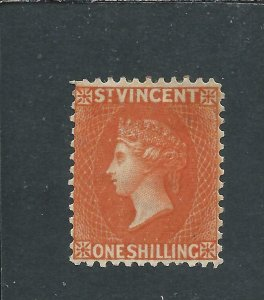 ST VINCENT 1883-84 1s ORANGE-VERMILION MM SG 45 CAT £150