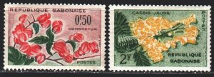 Gabon. 1961. 160-62 from the series. Flowers, flora. MNH.