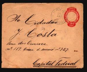 Brazil 1897 Stattionery Cover / Small Bottom Tear - Z19394