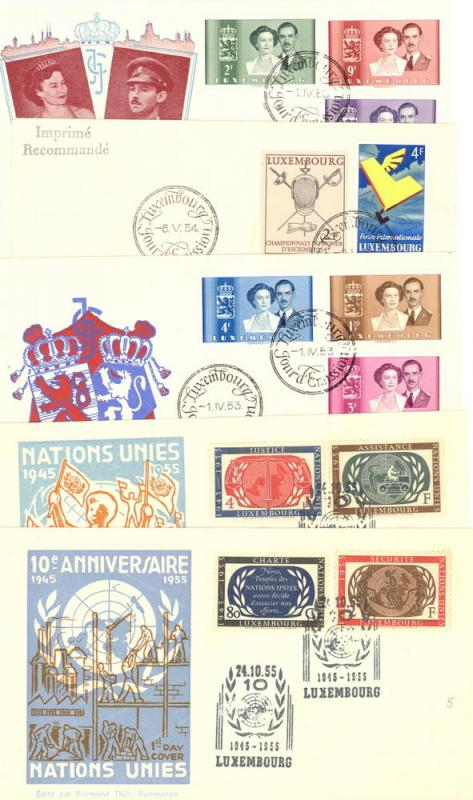 Luxembourg  Nice lot of FDC