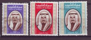 J14935 JLstamps 1978 kuwait hv,s of set used #761-3 sheik sabah