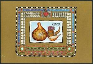 Kenya 468,MNH.Michel Bl.35. Utensils 1988.Gourds,calabash,horn.