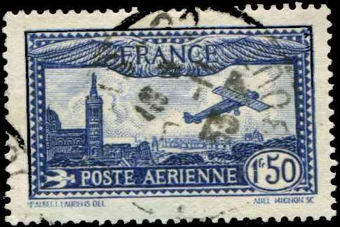 France SC# C6 View of Marsillee & Notre Dame 1ƒ50 Used