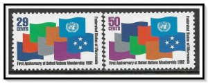 Micronesia #152-153 Admission To The UN Set MNH