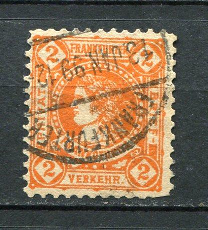 Germany 1887 Mi 10 Used Local Private Frankfurt 3702