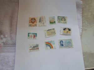 FINLAND STAMPS LOT OF 10 STAMPS. IN MIXED CON. # 7