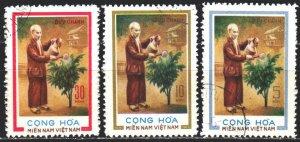 Vietnam. 1975. 52-54. Ho Chi Minh, communist, Vietnamese politician. USED.