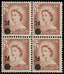 New Zealand Scott 320 Gibbons 763b Block of Stamps